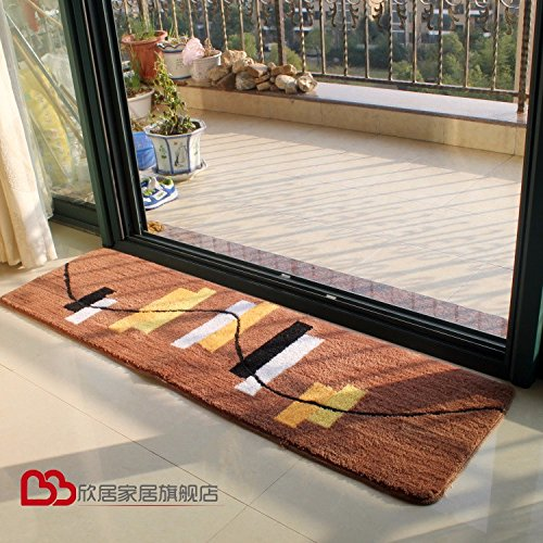 NSSBZZThe kitchen long absorbent Pad fireplace bathroom room door bathroom anti-skid bathroom Mat 40 120cm Brown/a by NSSBZZ