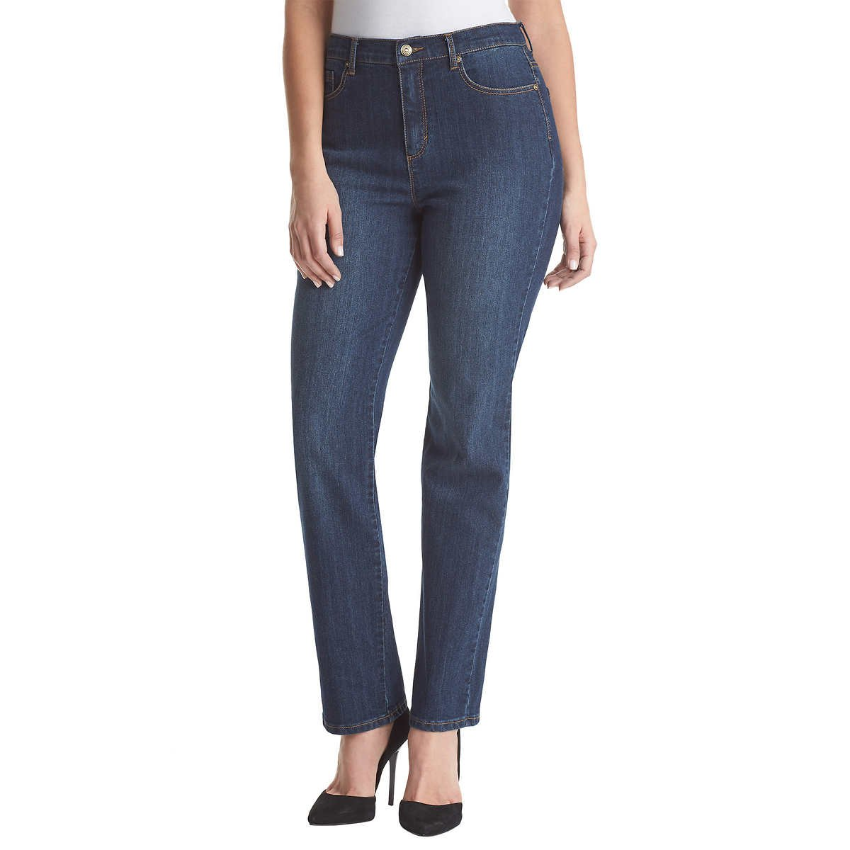 Gloria Vanderbilt Women's Amanda Tapered-Leg Jean, Scottsdale Wash, 14 Short