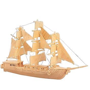 Woodcraft Maqueta de Madera Modelo European Sailing Boat