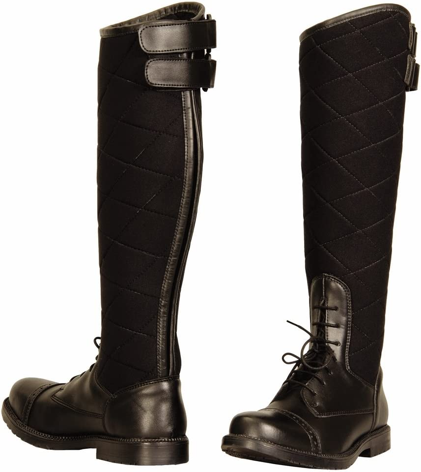 TuffRider Women's Alpine Quilted Field Boots in Synthetic Leather