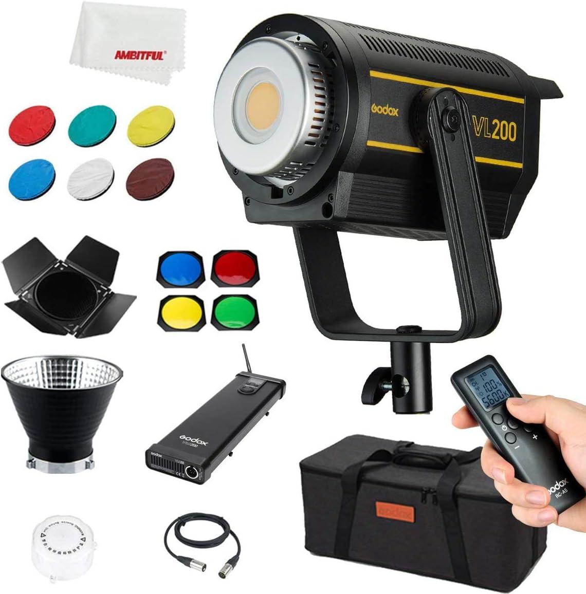Godox Vl200 200w New Led Lights 5600k Day Light Cri Kamera