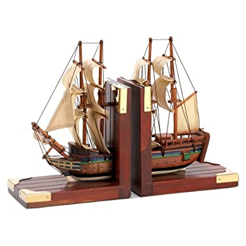 Gifts U0026 Decor Office Library Sailing Schooner Nautical Theme Bookend