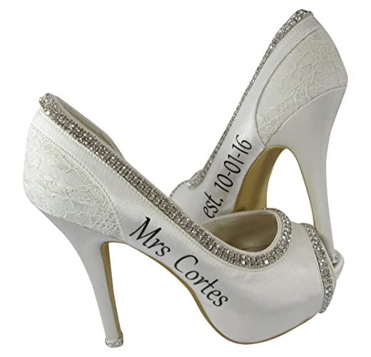 a095c6c5d6082 Customized and Handmade High Heels for the Bride - 4.5 inch or 3.5 inch, or  low 2 inch