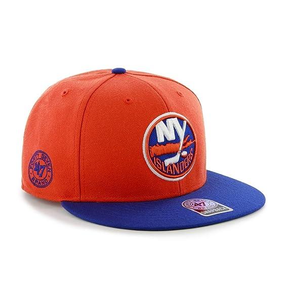 0d48b6c4cfc12 ... authentic nhl new york islanders back slide adjustable snapback cap 47  brand 74f4e 45763