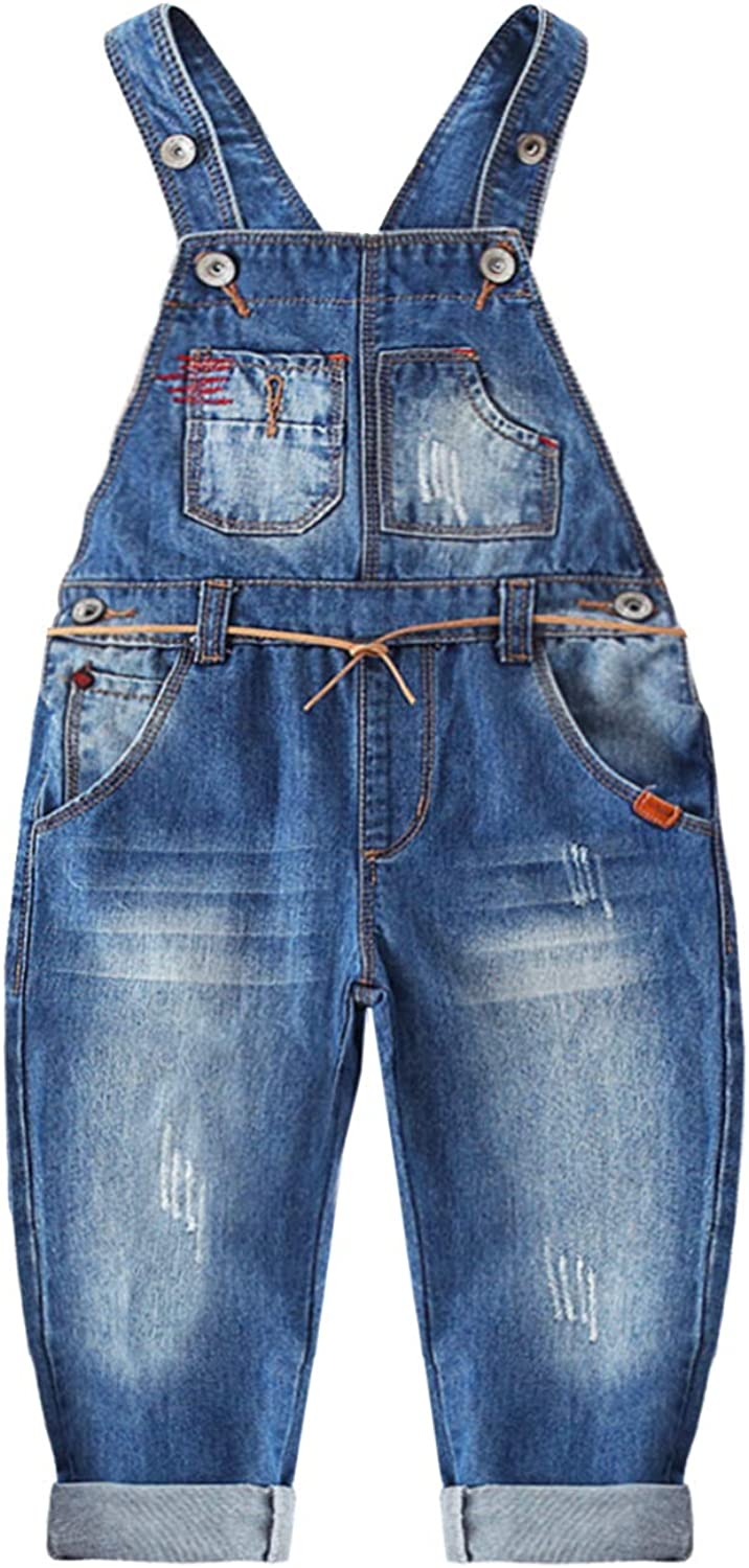 Kidscool Space/Baby Big Bibs Pockets Fashion Jeans Overalls