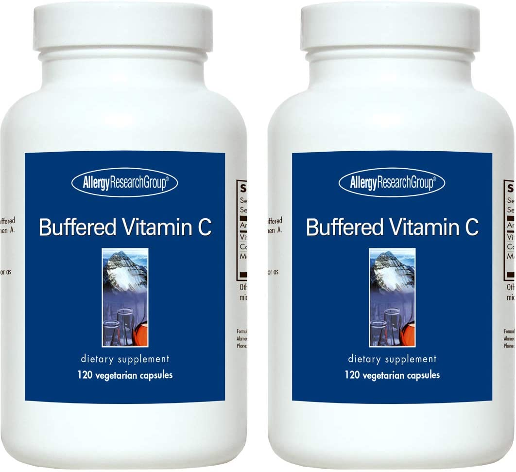 Allergy Research Group - Buffered Vitamin C - 120 Capsules - 2 Pack