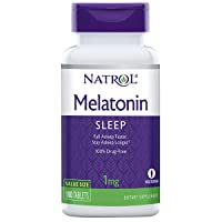 Natrol Melatonin Tablets, Helps You Fall Asleep Faster, Stay Asleep Longer, Faster...