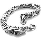 INBLUE Men's 8mm Stainless Steel Bracelet Wrist...