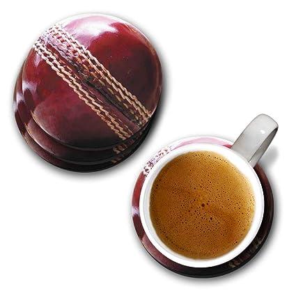 Round Cricket Ball Coaster