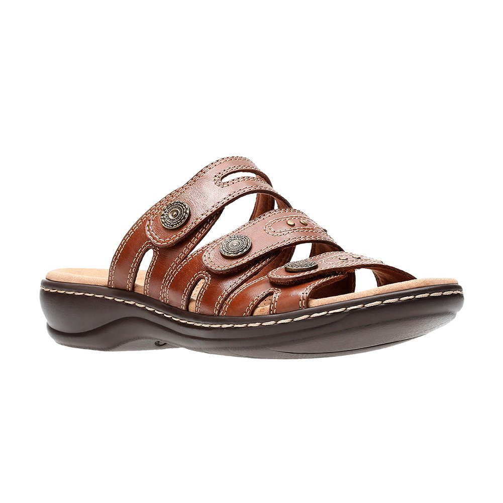 CLARKS Leisa Lakia Women's US|Dark Sandal B0788QX18S 8 W US|Dark Women's Tan f8ba82