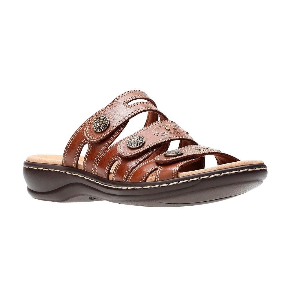 CLARKS Leisa Lakia Women's Sandal B0789M1MMZ 7 W US|Dark Tan