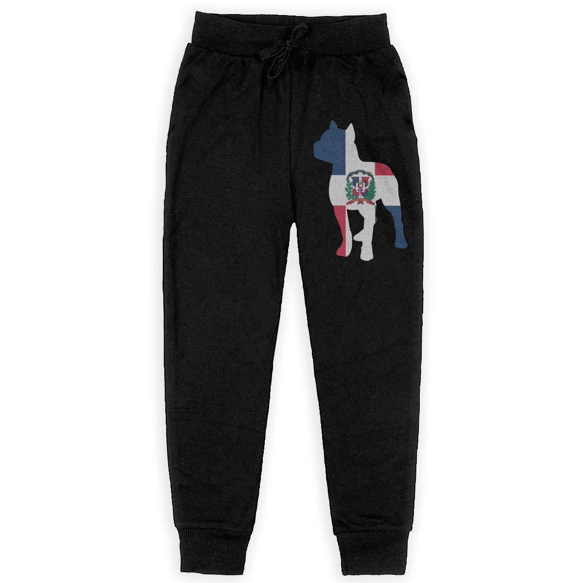 Boys Trousers Girls for Teenager Boys WYZVK22 Patriotic Pitbull Dominican Republic Flag Soft//Cozy Sweatpants