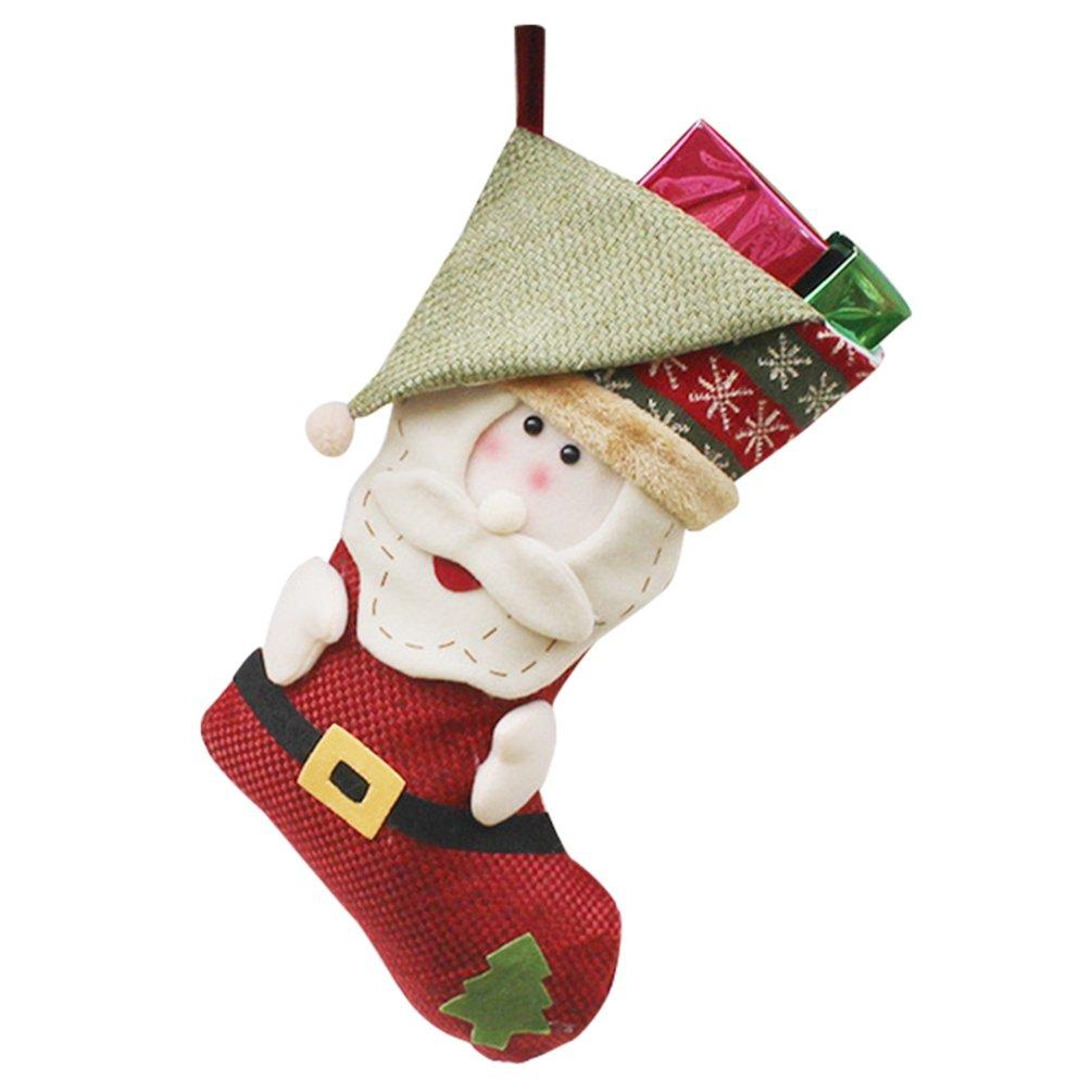YiLianDa Calze Di Natale Calzini Di Natale Appendere Calze Regalo Filler Natale Pupazzo Di Neve Elk Decorazione Natalizia