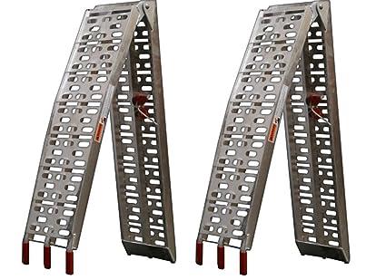 Par de rampas plegables de aluminio para quad, motocicleta o cortacésped, 230 mm de anchura.