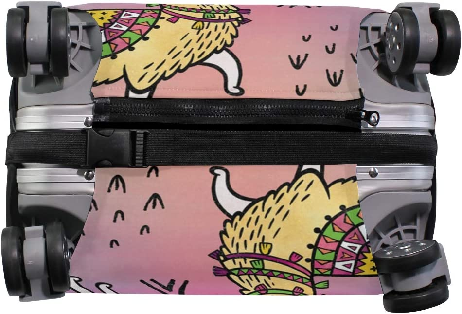 VIKKO Golden Llamas In Tribal Style Travel Luggage Cover Suitcase Cover Protector Travel Case Bag Protector Elastic Luggage Case Cover Fits 26-28 Inch Luggage for Kids Men Women Travel