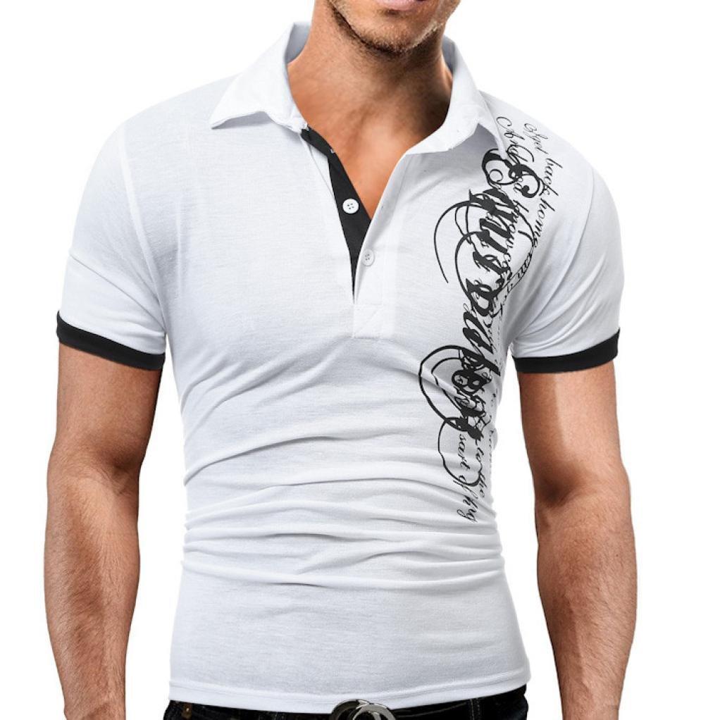 Slim T-shirts for Men Anxinke Summer Casual Short Sleeve T-shirt Tops