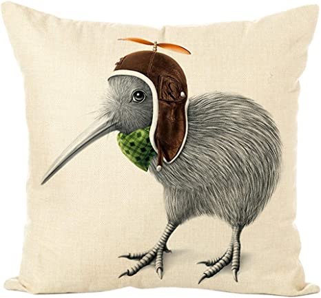 Amazon Com Mg554zy0 Kiwi Bird Boar Deersheep Rabbit Throw Pillow Case Cushion Cover Sofa Bed Decor Kiwi Bird Boar Deersheep Rabbit Throw Pillow 5 Home Kitchen