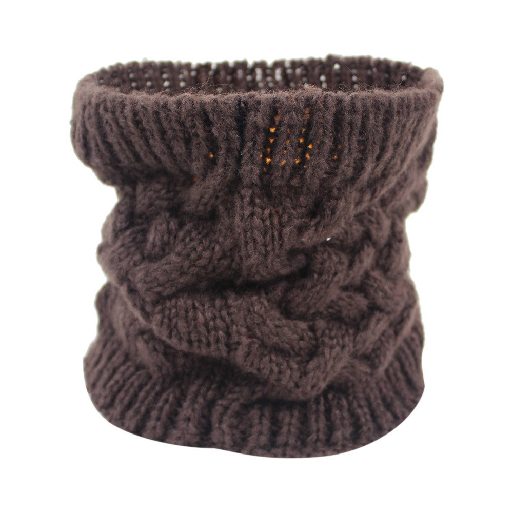 Toaimy Unisex Womens Scarves Unisex Winter Warm Infinity Cable Woolen Knitted Neck Cowl Collar Scarf Shawl