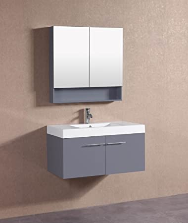 Belvedere Designs T5006 Modern Floating Bathroom Vanity, 36u0026quot;, ...