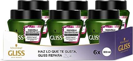 Gliss Mascarilla Nutritiva Proteína 4 en 1 - para Cabello Seco ...