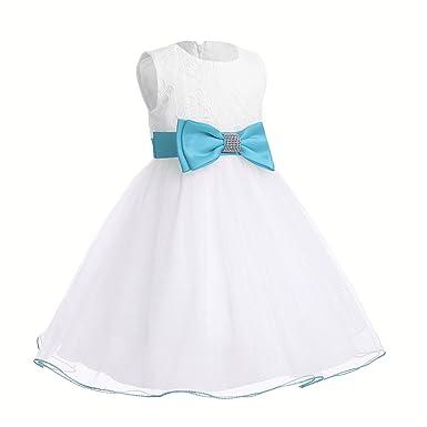 Freebily süßes Baby kleid weiß mädchen Kleider festlich Partykleid ...