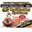 Zoo Med Reptile Basking Spot Lamp 100 Watts 2 Bulb Value Pack