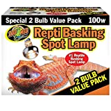 Zoo Med Reptile Basking Spot Lamp 100 Watts 2 Bulb Value Pack