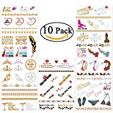 Bachelorette Party Tattoos, NUOLUX Bachelorette Temporary Flash Tattoos for ...