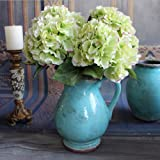 "EBY Artificial Hydrangea Flower 5 Big Heads Bounquet (Diameter 7"" each head) 7 Colors Avaliable"