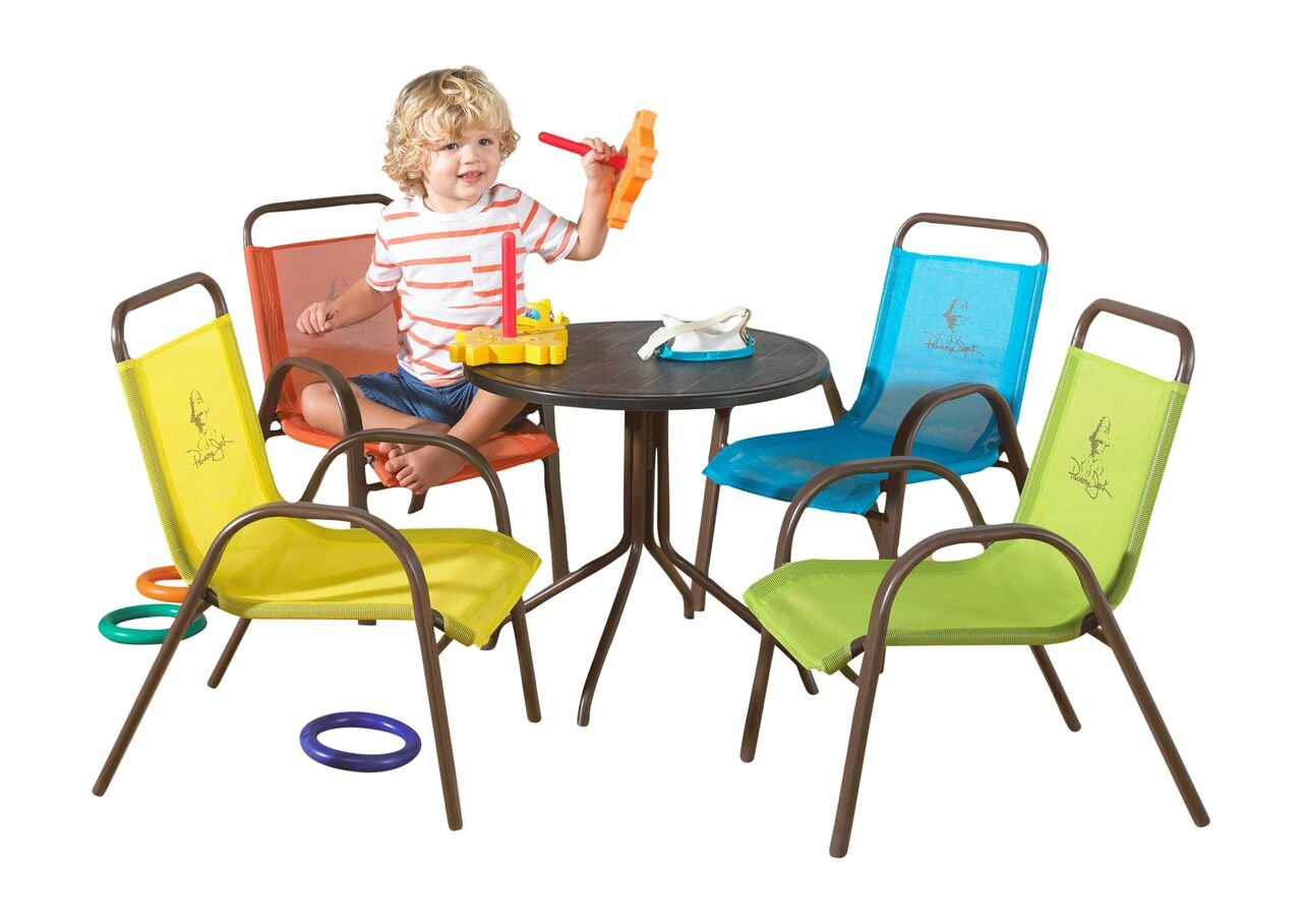 Amazon.com: Panama Jack Kids 5 Piece Outdoor Dining Set, Multicolored:  Garden U0026 Outdoor
