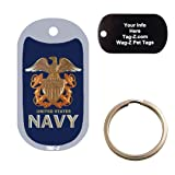 US NAVY LOGO - CUSTOMIZED - PET TAG - MILITARY