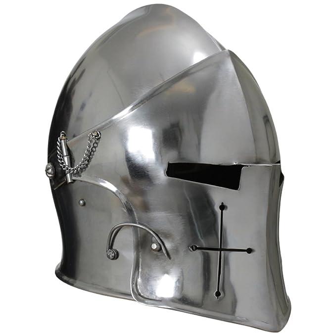 Armor Venue - Visored Barbuta Helmet Armour