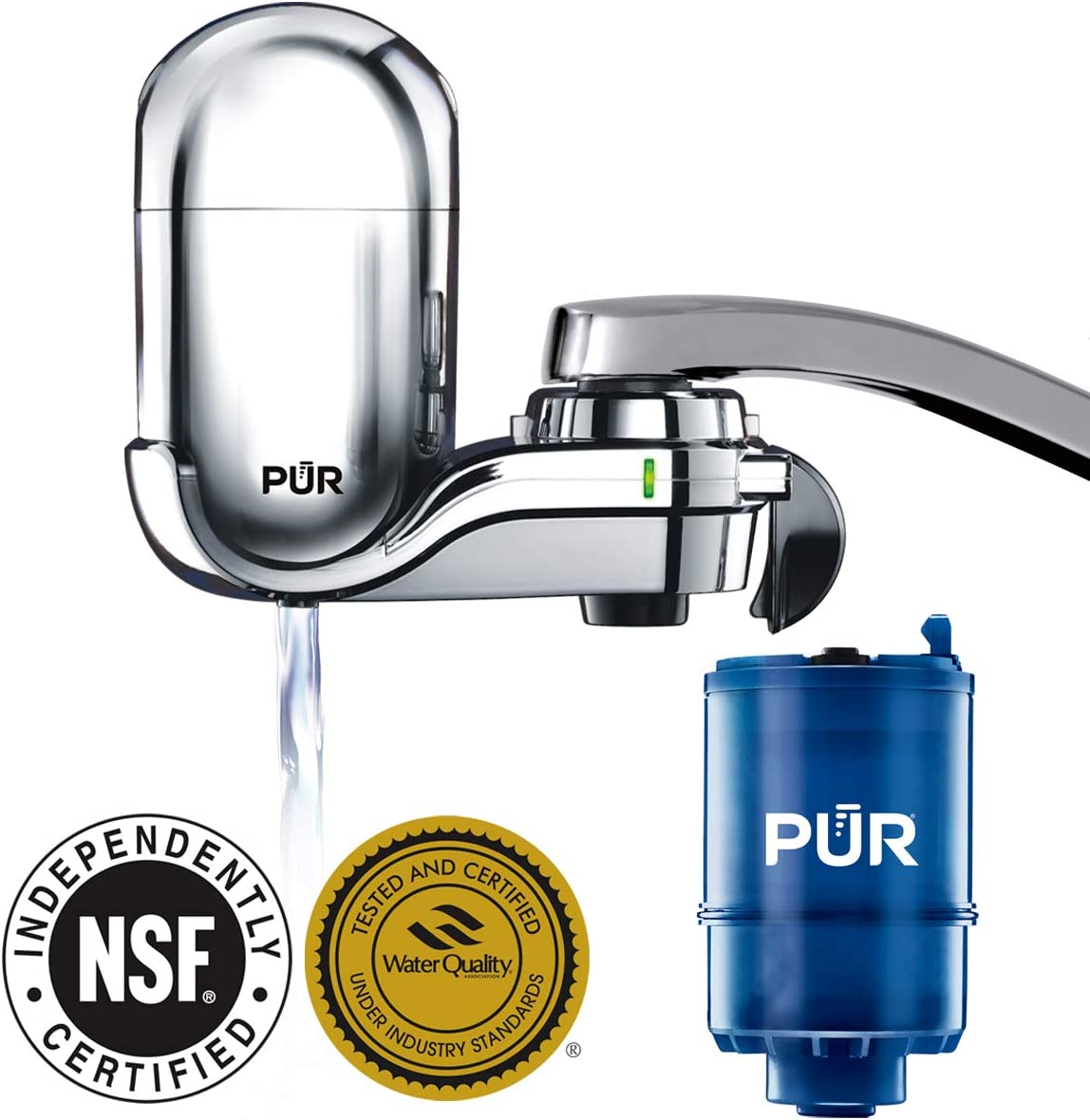 PUR - FM-3700 Faucet Mount Water Filter NSF and WQA gold seal certified