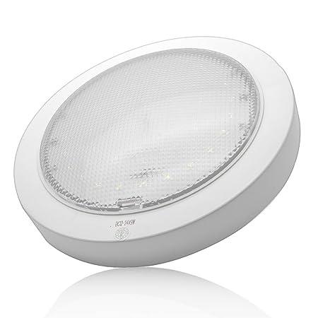 Luces interiores - MASO 12 V 9 W lámpara de techo LED de fijación para caravana/autocaravana/remolque/barco superficie de montaje de luz de punto caliente: ...