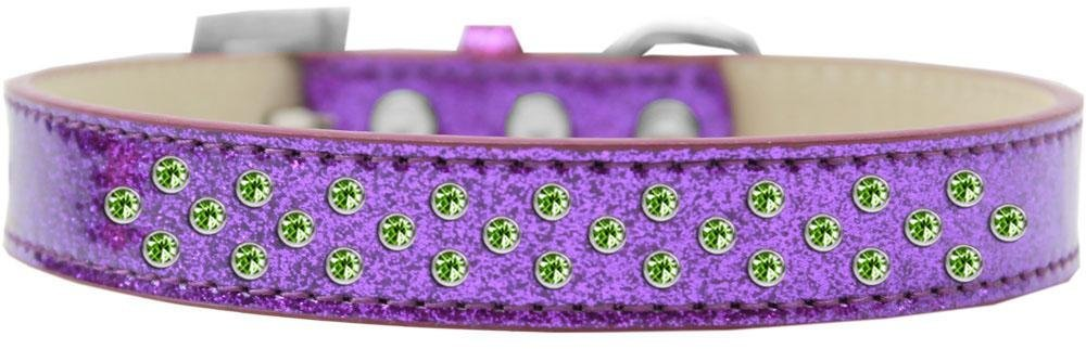 Purple Size 18 Purple Size 18 Mirage Pet Products Sprinkles Ice Cream Dog Collar with Lime Green Crystals, Size 18, Purple