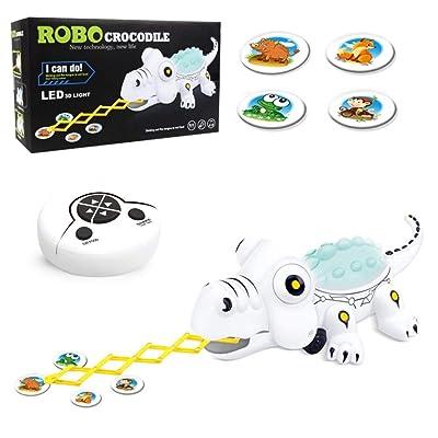 wendaby Cocodrilo Robot para Niños, Robots de Radiocontrol Buddy Interactivo Mascota Control Remoto Robot Toy & Gift para Niños, RC Robot Kit pretty good first-rate classic attractive: Bebé