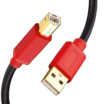 Cable de Impresora TanQY, USB 2.0, Conectores chapados en ...