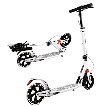 Patinete Scooter Plegable con Freno de Mano/Scooter de ...