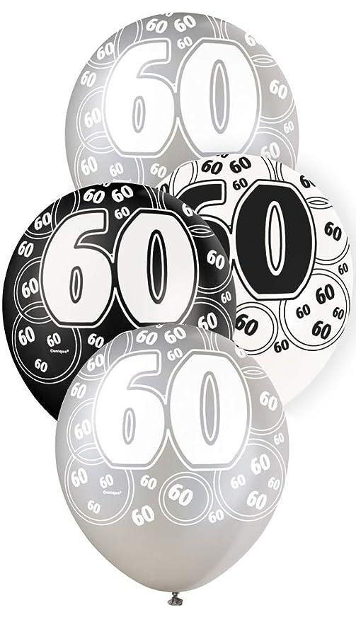 27 opinioni per Unique Party 80897- 30 cm Palloncini Lattice Nero Brillante e Argento per 60°