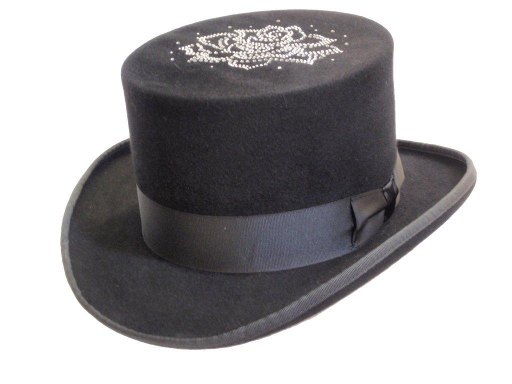 D Bar J Hat Brand, Female, Top Hat, Size 7 5/8, Black
