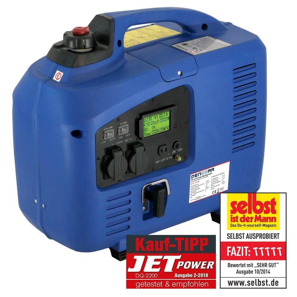 DENQBAR 2,2 kW Inverter Stromerzeuger Notstromaggregat Stromaggregat ...