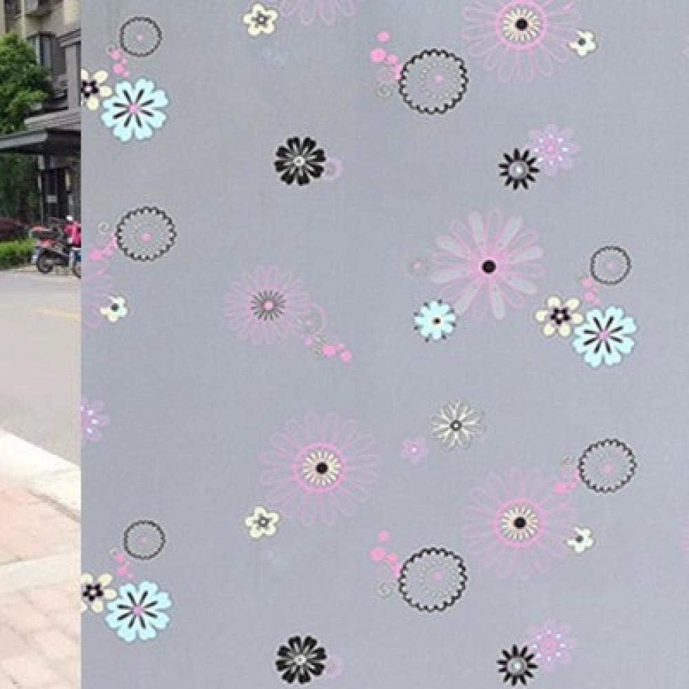 ZackLiz Scrub Decorativo Pellicola per vetri Privacy Senza Colla Autoadesivo Anti-UV Non Adesivo Bagno Staccabile Soggiorno Camera da Letto Cucina Ufficio casa