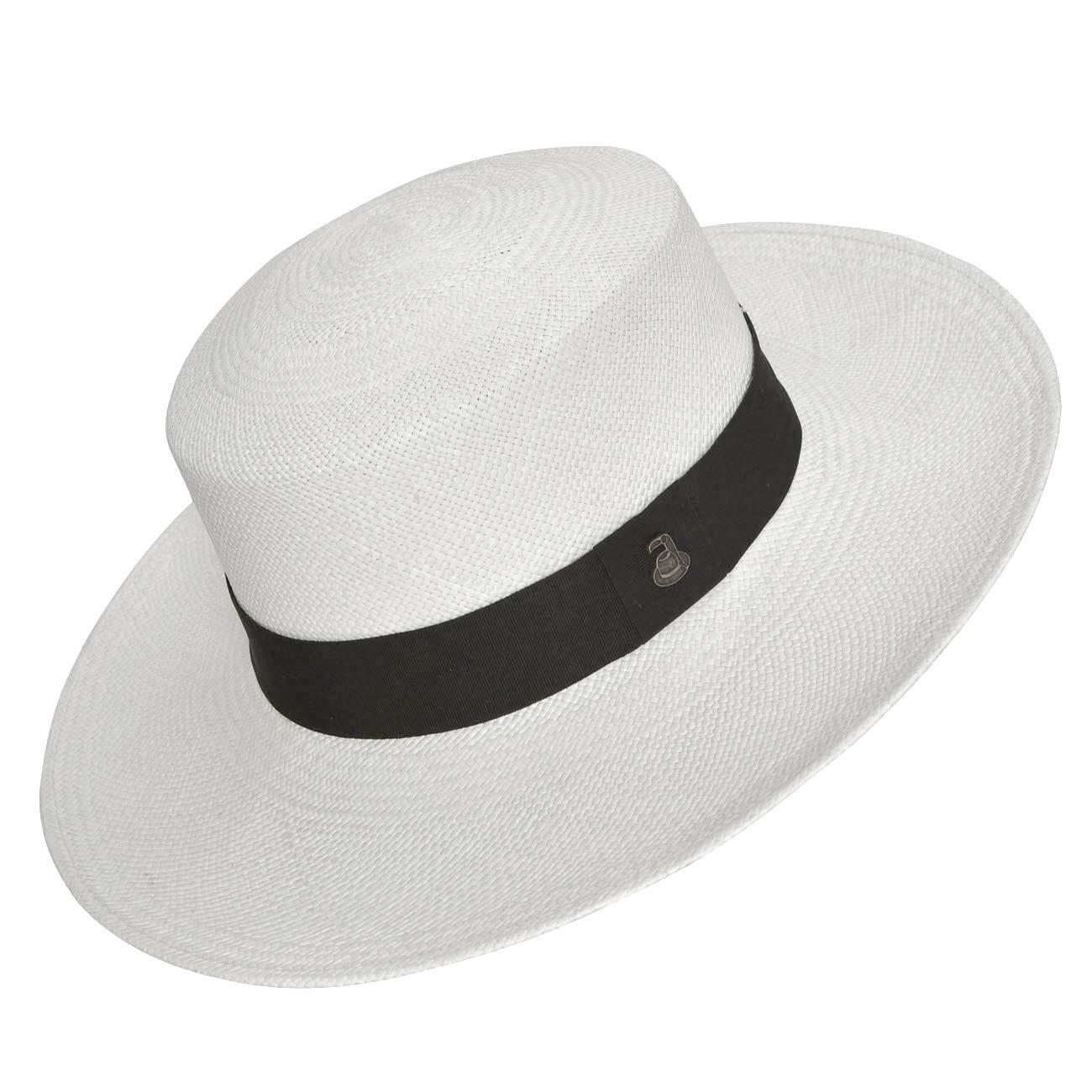 347763de5 Original Panama Hat - Wide Brim Flat Top - Toquilla Straw - Handmade in  Ecuador by Ecua-Andino