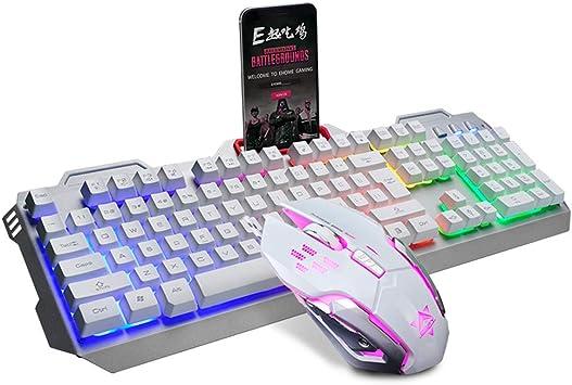 Guanwen Juego de Teclado y Mouse para Juegos, con Cable USB ...