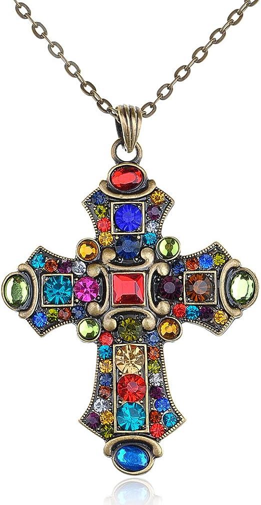 Rhinestone Cross Pendant for DIY Pendants Jewelry Marking Accessories