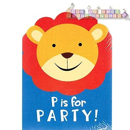 amazon com jungle animals safari party invitations w envelopes