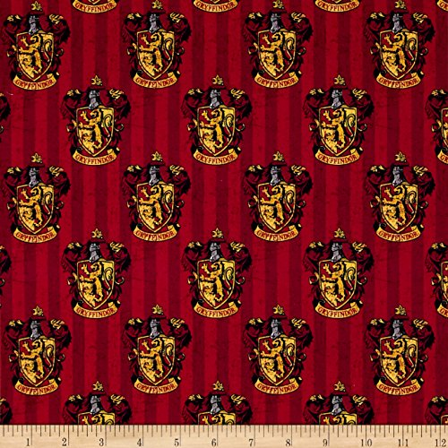 (CAMELOT Fabrics 0491196 Harry Potter Digital Gryffindor Multi Fabric by The Yard,)