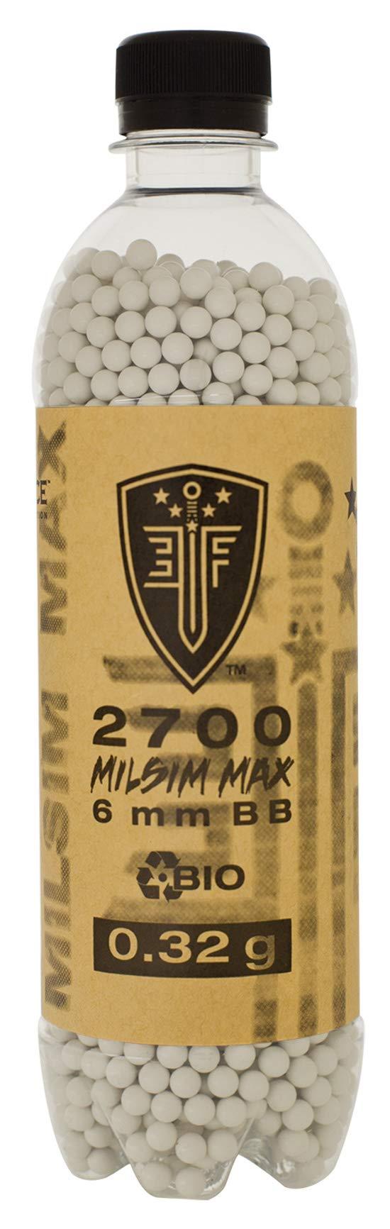 Elite Force Premium Biodegradable 6mm Airsoft BBS Ammo.25 Gram, 2700 Count