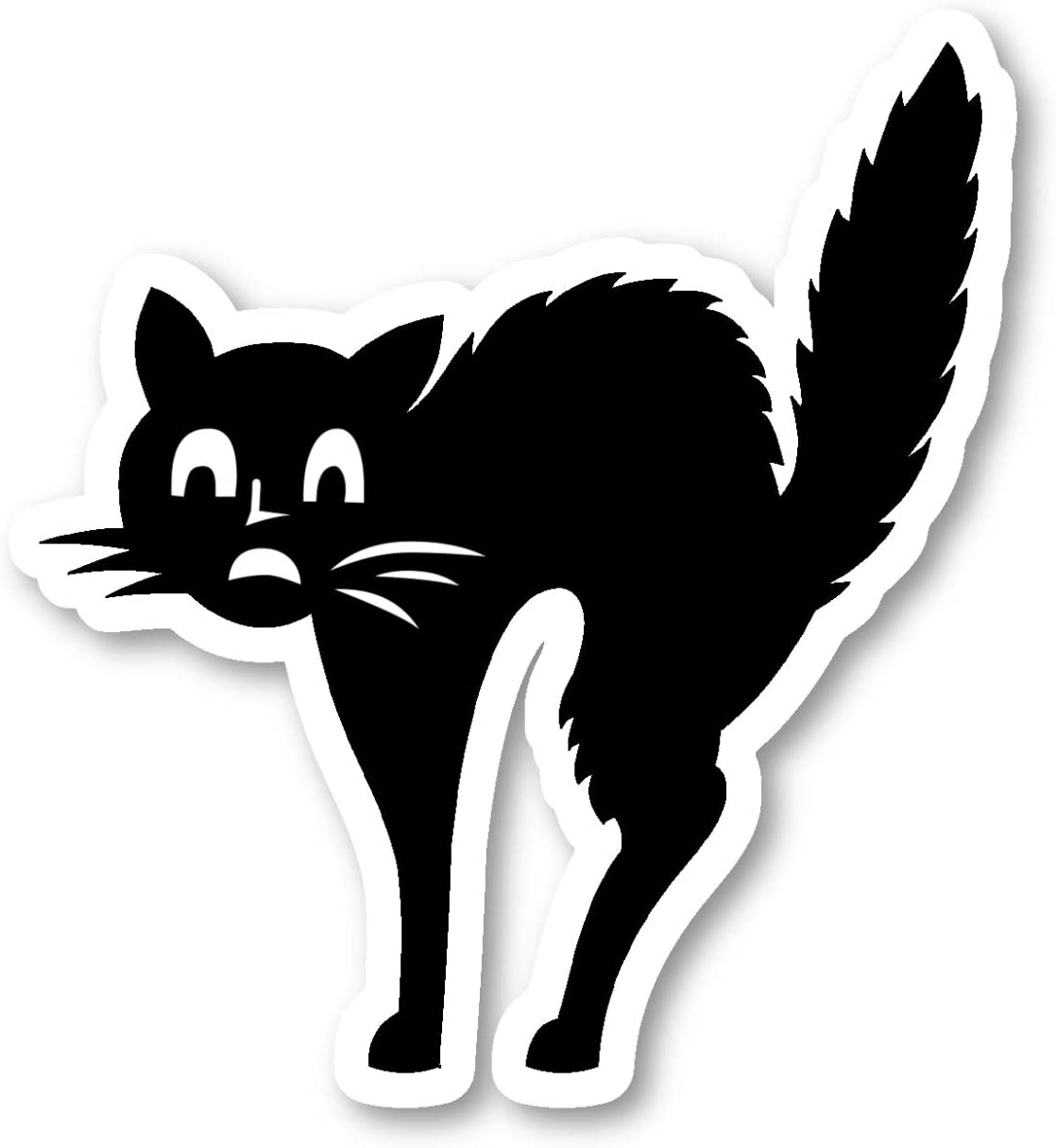 Scared Cat Sticker Funny Cats Stickers - Laptop Stickers - 2.5 Inches Vinyl Decal - Laptop, Phone, Tablet Vinyl Decal Sticker S214531