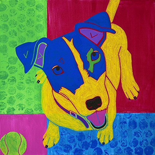 Playful Jack Russell Terrier Art Print - MATTED Dog Art by Angela Bond (Jack Russell Terrier Prints)